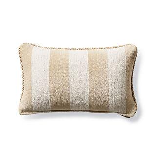 Caicos Stripe Sand Outdoor Lumbar Pillow
