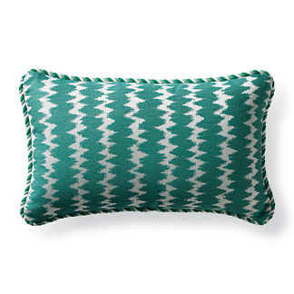Dawei Stripe Jade Outdoor Lumbar Pillow