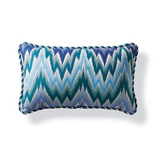 Fiamma Ikat Peacock Outdoor Lumbar Pillow
