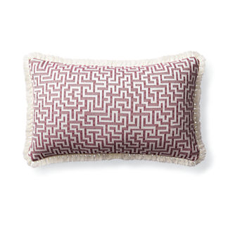 Ionian Key Fuchsia Outdoor Lumbar Pillow