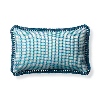 Woven Echo Peacock Outdoor Lumbar Pillow