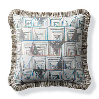 Abstract Angles Dove Outdoor Pillow