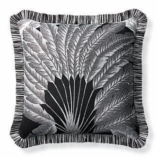 Atherton Palm Onyx Outdoor Pillow