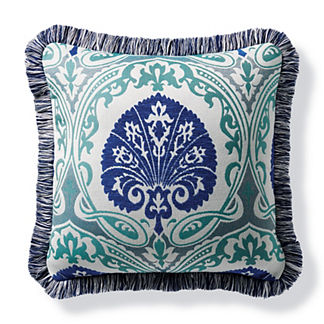 Denby Gate Cobalt Outdoor Pillow