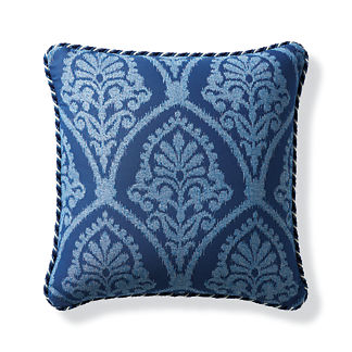 Timeless Ikat Cobalt Outdoor Pillow