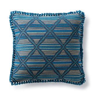 Tribal Craft Peacock Outdoor Pillow