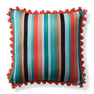 Veneta Stripe Jungle Outdoor Pillow