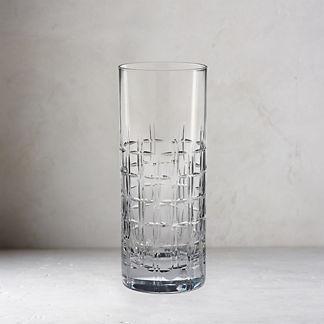 Aubrey Cut Crystal Highball Glasses, Set of Two