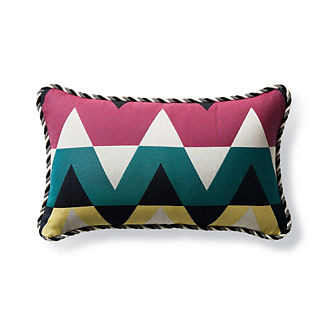 Tangram Stripe Caribbean Outdoor Lumbar Pillow