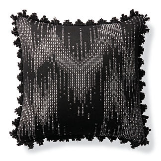 Stitched Ombre Onyx Outdoor Pillow
