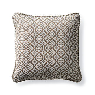 Petite Flourette Sand Outdoor Pillow