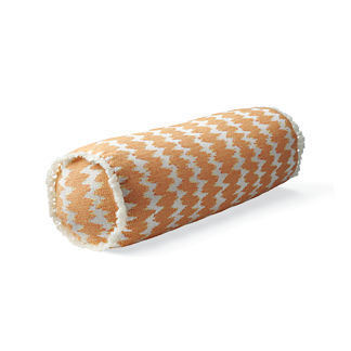 Dawei Stripe Sunset Outdoor Bolster Pillow
