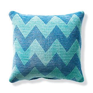 Harper Chevron Mist Outdoor Pillow