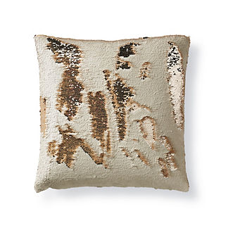 Mermaid Sequin Champagne Pillow by Porta Forma