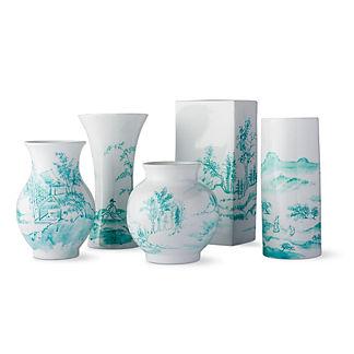 Aqua Ming Small Vases, Set of Five