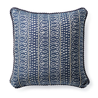 Nishiki Stripe Navy Outdoor Pillow