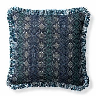 Stairstep Prism Indigo Outdoor Pillow