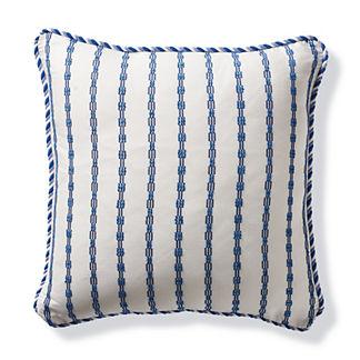 Morse Stripe Cobalt Outdoor Pillow
