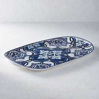 Mediterranean Tile Oval Serving Platter