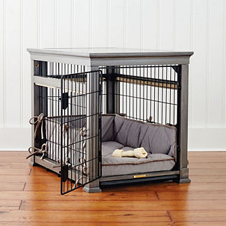 Luxury Pet Residence Dog Crate in Distressed Grey