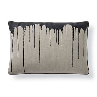 Disperse Onyx Lumbar Pillow by Porta Forma