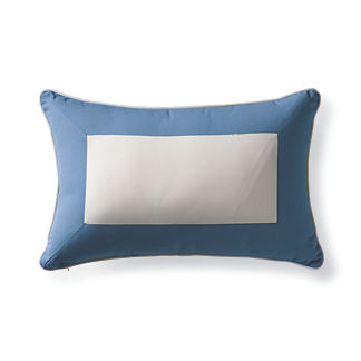 Colorblock Outdoor Lumbar Pillow