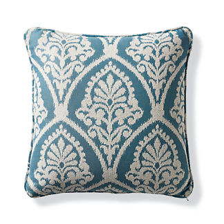 timeless ikat celadon outdoor pillow