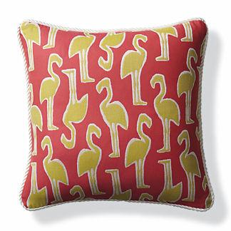 Flamingo Coast Paradise Outdoor Pillow