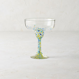 Confetti Margarita Glasses, Set of Four