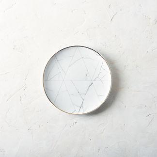 Carrara Dinner Plates by Porta Forma, Set of Four
