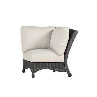Regent Corner Chair with Cushions by Summer Classics