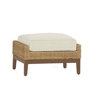 Peninsula Ottoman with Cushion by Summer Classics