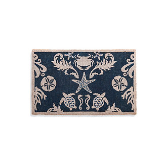 Sea Life Damask Mat