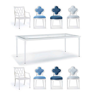 Quatrefoil 9-pc. Rectangular Dining Set