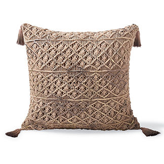 Halla Macrame Tassel Decorative Pillow