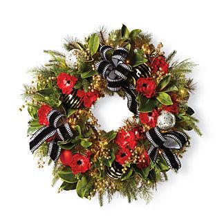 Hadley Place Pre-Lit Wreath