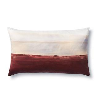 Handpainted Horizon Lumbar Decorative Pillow