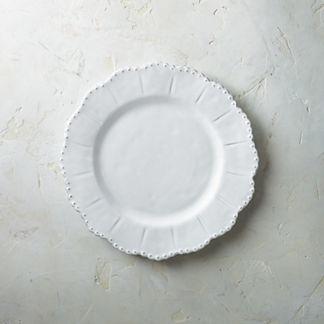 Bella Bianca Beaded Dinner Plates, Set of Four
