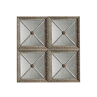 Rosetta Square Mirror, Set of Four