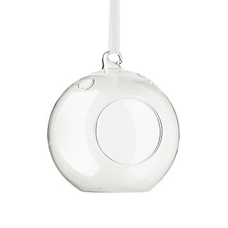 Glass Tea Light Holder Ornaments, Set of Twelve