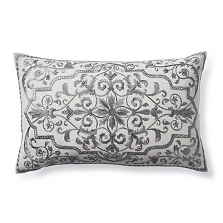 Jolene Embroidered Lumbar Decorative Pillow