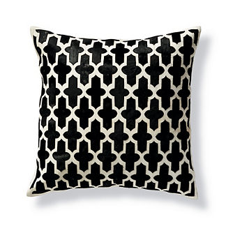 Holden Moroccan Trellis Hide Decorative Pillow by Martyn Lawrence Bullard