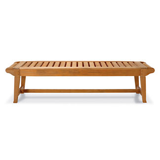Cassara 6 ft. Backless Bench in Natural Finish
