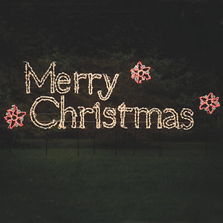 Lighted Merry Christmas 6-ft. Display