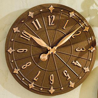 Fleur-de-Lis Clock