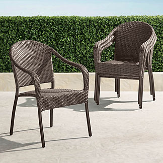 Set of Four Cafe Curved Back Stacking Chairs
