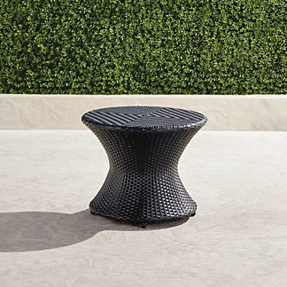 Balencia Round Side Table in Black