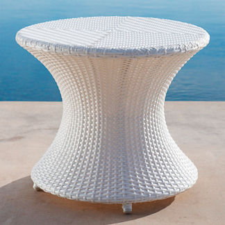 Balencia White Round Side Table