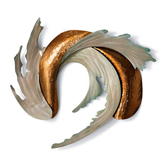 Sea and Sand Outdoor Wall Sculpture by Copper Art
