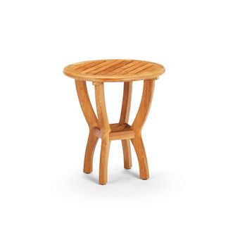 Cassara Teak Round Side Table in Natural Finish